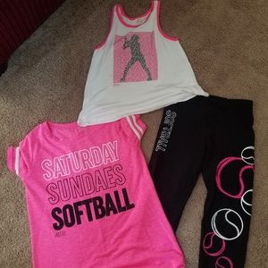 Justice softball outfit.